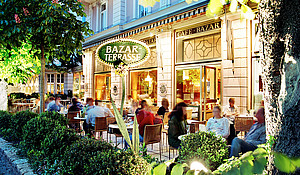 Coffee house in Salzburg - Café Bazar terrace